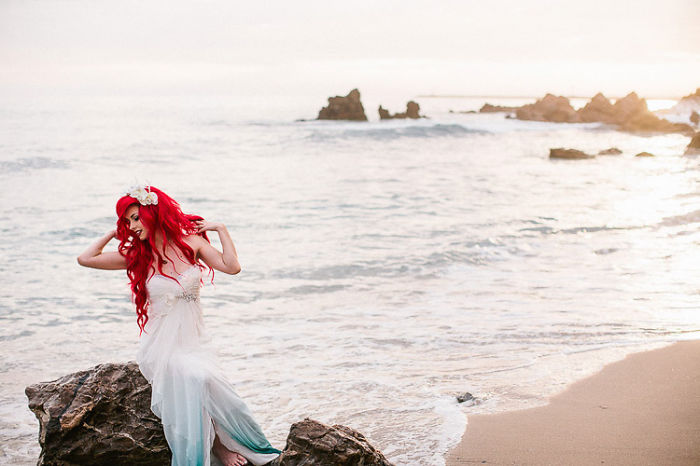 decoracao de casamento que esta na moda:Ariel Little Mermaid Themed Wedding
