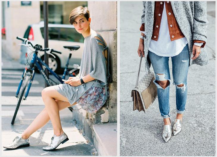 Resultado de imagem para imagens de calçados prateados